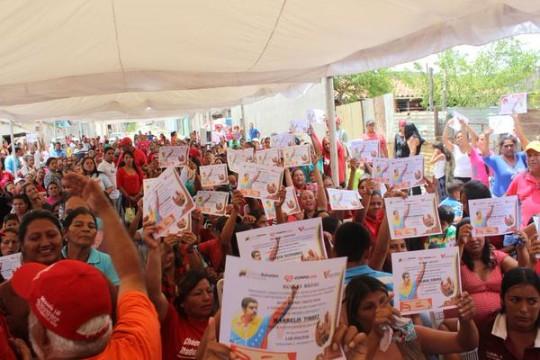 Comunidades larenses beneficiadas