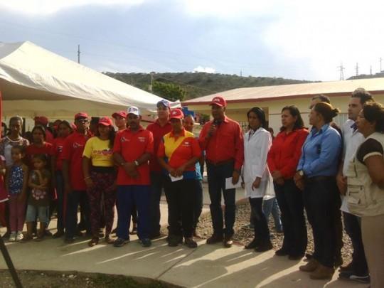 Candidatos de la patria, presentes en acto de inauguración