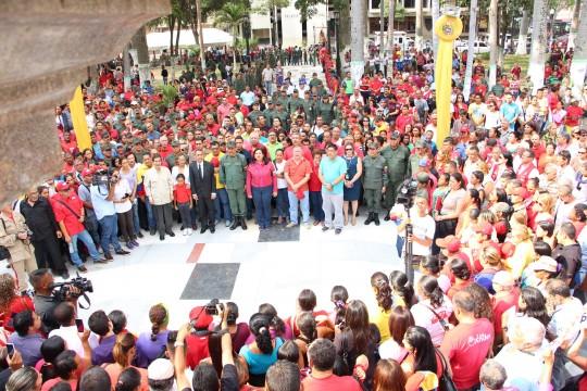 Con firmeza y lealtad recordaron al gigante Hugo Chávez