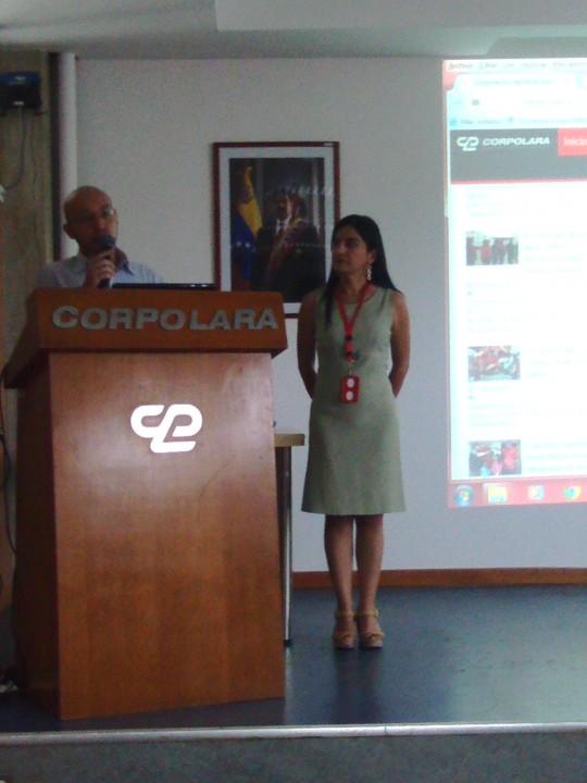 Responsables de Prensa y Tecnología presentaron la web de Corpolara