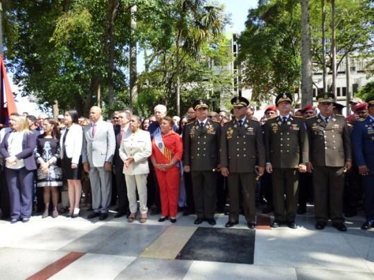 Autoridades presentes en actos Día de Barquisimeto
