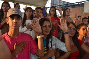 Juventud larense confía en la revolución